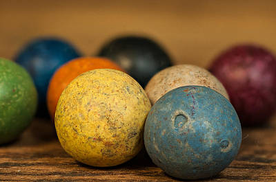 Colored Clay Marbles Art Print