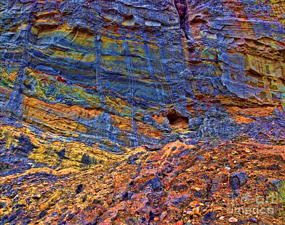 Colored Cliffs  Art Print