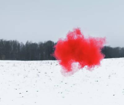 Photograph - Colored Cloud by Henrik Sorensen