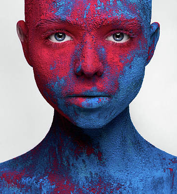 Face Wall Art - Photograph - Colored Ecstasy by Alex Malikov