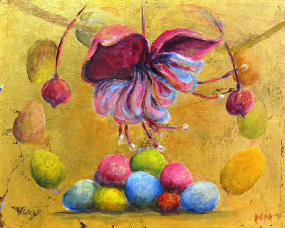 Painting - Colored Eggs by Marie-louise McHugh