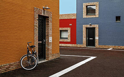 Brick Walls Photograph - Colored Facades by Gilbert Claes