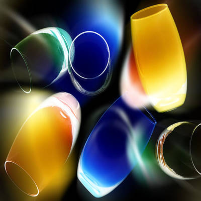 Photograph - Colored Glass by Selke Boris