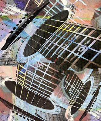Photograph - Colored Guitar Strings  by Susan Stone