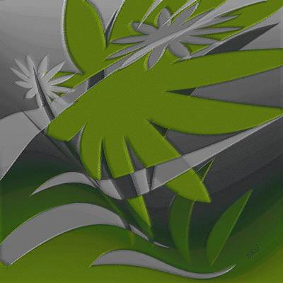 Digital Art - Colored Jungle Green by Ben and Raisa Gertsberg