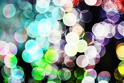 Digital Art - Colored Light Circles by Susan Stone
