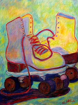 Painting - Colored Lights All Over My Skates by Kendall Kessler