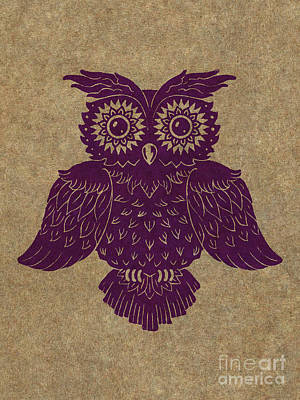 Colored Owl 1 Of 4  Art Print by Kyle Wood