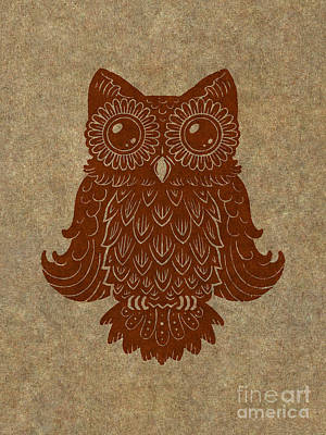 Colored Owl 2 Of 4  Art Print