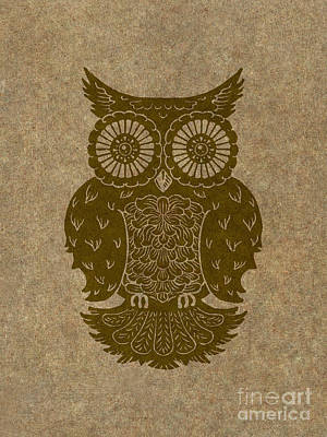 Colored Owl 3 Of 4  Art Print by Kyle Wood