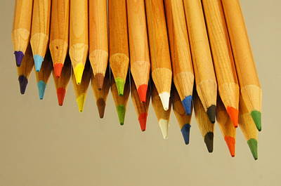 Photograph - Colored Pencils by Kathy Churchman