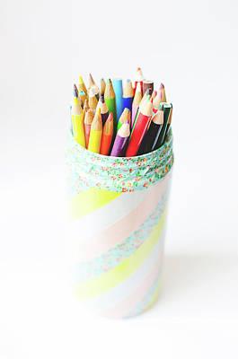 Jar Photograph - Colored Pencils by Lisa Gutierrez