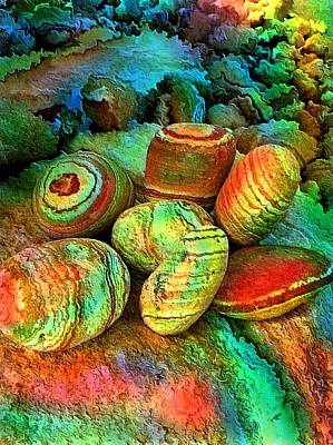 Painting - Colored Stones By Rafi Talby   by Rafi Talby