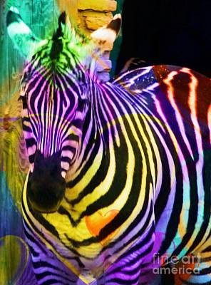 Colored Stripes Art Print by Kathleen Struckle