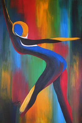 Colored Art Print by Teri Howard Stewart