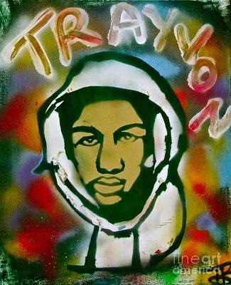 American Conservative Party Painting - Colored Trayvon by Tony B Conscious