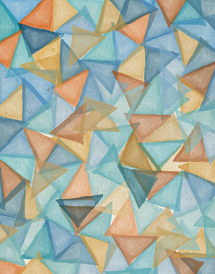 Colored Triangles Art Print by Aged Pixel