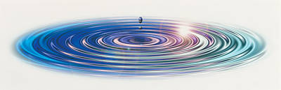 Colored Water Drop Art Print by Panoramic Images