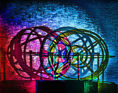 Digital Art - Colored Wheel Silhouettes.jpg by Georgianne Giese