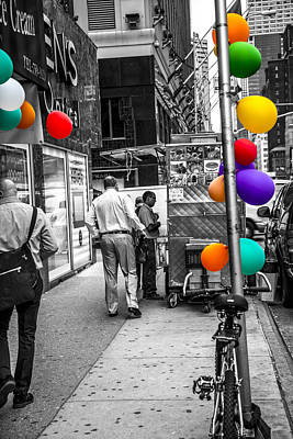 Ladies Bike Photograph - Colored With Balloons by Karol Livote