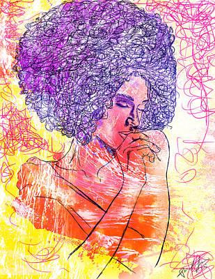 Colored Woman Art Print by Kenal Louis
