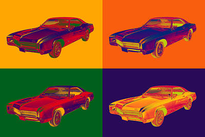 Colorful 1967 Buick Riviera Pop Art Art Print