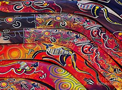 Photograph - Colorful Aboriginal Art by Kaye Menner