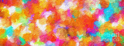Digital Art - Colorful Abstract 101 Panorama by Andee Design