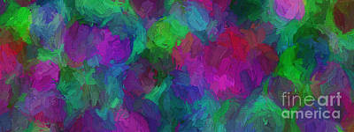Digital Art - Colorful Abstract 106 Panorama by Andee Design