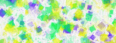 Digital Art - Colorful Abstract 111 Panorama by Andee Design