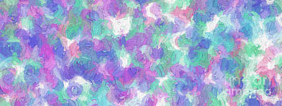 Digital Art - Colorful Abstract 112 Panorama by Andee Design