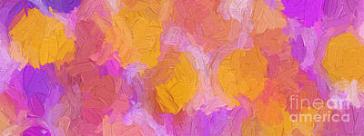 Digital Art - Colorful Abstract 117 Panorama by Andee Design