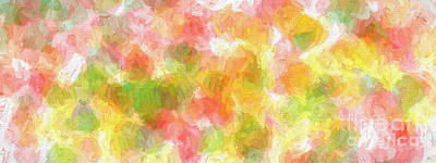 Digital Art - Colorful Abstract 118 Panorama by Andee Design