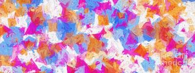 Digital Art - Colorful Abstract 120 Panorama by Andee Design