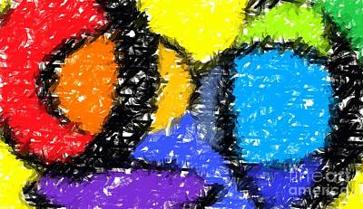 Bright Colours Digital Art - Colorful Abstract 3 by Chris Butler