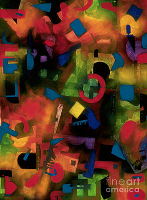 Painting - colorful abstract art - Jazz Time by Sharon Hudson