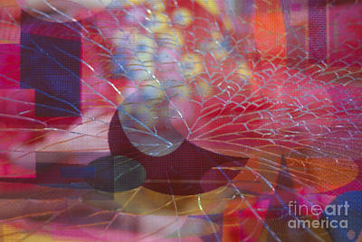 Photograph - colorful abstract floral still life - Fractured Vase by Sharon Hudson