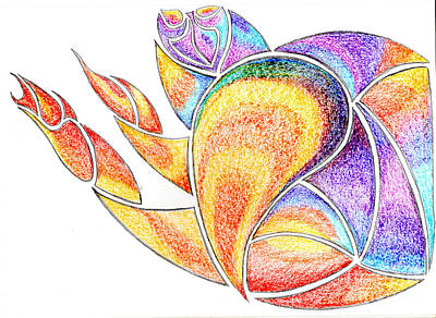 Colorful Abstract Drawing - Colorful Abstract Man by Minding My  Visions by Adri and Ray
