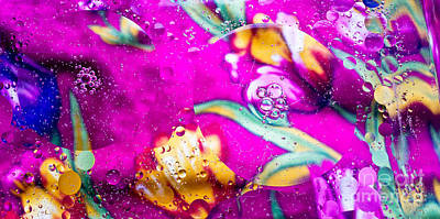 Photograph - Colorful Abstract Of Oil And Water by Imagery by Charly
