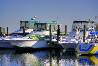 Photograph - Colorful Accented Boats by Cathy Jourdan