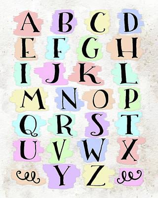 Colorful Alphabet Art Print by Tara Moss