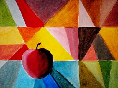 Painting - Colorful Apple by Constantinos Charalampopoulos