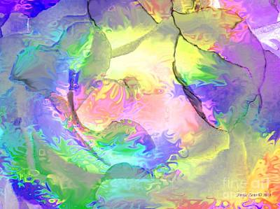 Painting - Colorful Artistic Rose by Annie Zeno