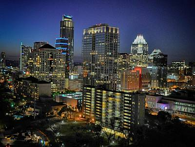 Photograph - Colorful Austin Skyline At Night by Kristina Deane