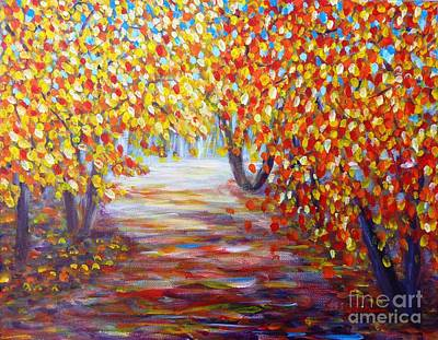 Colorful Autumn Art Print