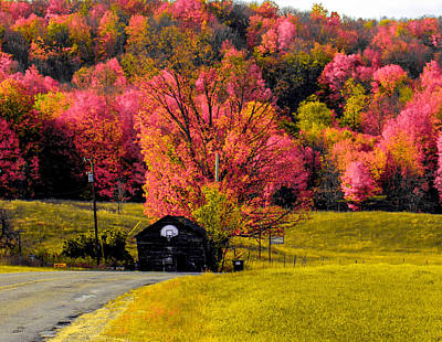 Colorful Back Country Roads Art Print by Optical Playground By MP Ray