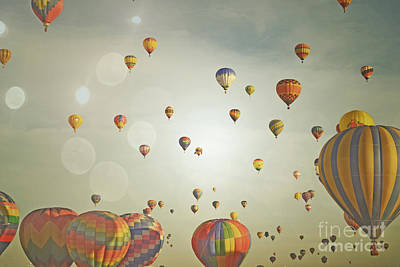 Photograph - Colorful Balloons Sky by Andrea Hazel Ihlefeld