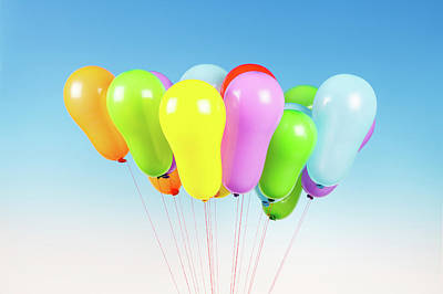 Bright Colours Photograph - Colorful Balloons by Wladimir Bulgar
