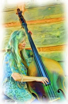 Colorful Bass Fiddle Art Print by Kenny Francis