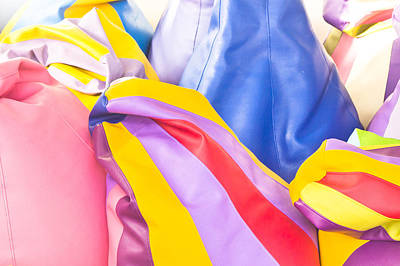 Colorful Beanbags Art Print by Tom Gowanlock